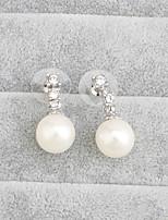 Drop Earrings Women's Pearl Earring Pearl