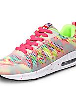 Scarpe Donna-Sneakers alla moda-Tempo libero / Sportivo-Comoda / Punta arrotondata-Piatto-Poliestere-Rosso / Grigio