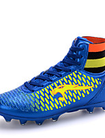 Zapatos Fútbol Semicuero Negro / Azul / Oro Para Niño / Hombre