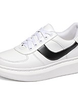 Women's Shoes Leatherette Platform Comfort / Round Toe Fashion Sneakers Outdoor / Casual White / Silver