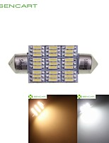 39MM 41MM Dome 27LED 4014SMD 4W Warm White/Cool White Car Interior Light Reading Light DC12V (2 Pcs)