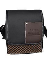 Men PU Messenger Shoulder Bag / Satchel-Brown / Black