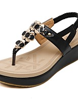 Women's Shoes Platform Platform / Flip Flops Sandals Outdoor / Dress / Casual Black / Almond
