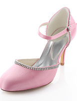 Women's Wedding Shoes Heels / Round Toe Heels Wedding / Party & Evening / Dress Pink / Champagne