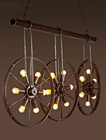 Iron wheel Retro Cafe Bar Chandelier Chandelier Clothing Store