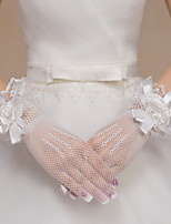 Wrist Length Fingertips Glove Lace / Net Bridal Gloves / Party/ Evening Gloves