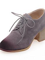 Chaussures Femme-Bureau & Travail / Habillé / Décontracté-Jaune / Gris-Gros Talon-Talons / Bout Fermé-Talons-Similicuir