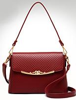 VUITTON Women PU Shell Shoulder Bag / Satchel-White / Blue / Black / Burgundy
