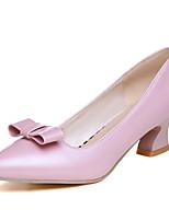Chaussures Femme-Bureau & Travail / Habillé-Noir / Rose / Blanc-Talon Bas-Bout Pointu-Talons-Similicuir