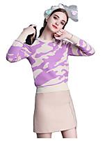 Women's Print Pink Set,Street chic Long Sleeve