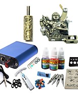 basekey tattoo kit jh573 1 machine met stroomaansluiting grips 3x10 ml inkt