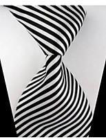 New Striped Black White Classic Formal Men's Tie Necktie Wedding Party Gift