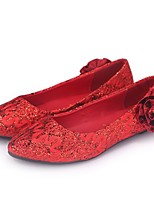 Women's Shoes Leatherette Flat Heel Round Toe Flats Wedding / Office & Career / Party & Evening Red