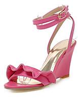 Zapatos de mujer-Tacón Cuña-Cuñas-Sandalias-Boda / Vestido / Fiesta y Noche-Semicuero-Negro / Rojo