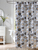 Modern Floral Shower Curtain 71x72inch,71x79inch