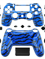 Replacement Controller Case for PS4 Controller (Blue Tiger Skin)