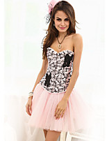 Newest Women's Sweet Embroidery Corset Blue/Yellow/Pink Flower Printed Corsets and Bustiers Shaperwear