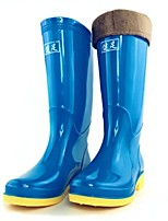 Women's Shoes Silicone Flat Heel Rain Boots Flats / Boots Outdoor Black / Blue / Red