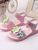 Girls' Shoes Party & Evening / Dress / Casual Wedges / Open Toe Leather Sandals Pink / Coral