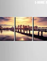 Paisaje Impresión de la lona Tres Paneles Listo para colgar,Horizontal