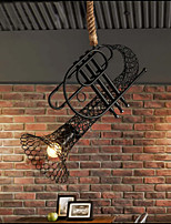 40W Campestre Mini Estilo Pintura Madera/Bambú Lámparas ColgantesSala de estar / Dormitorio / Comedor / Habitación de estudio/Oficina /