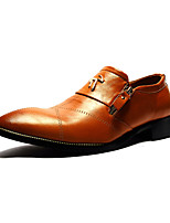 Men's Shoes Casual Leatherette Oxfords Black / Brown / Burgundy