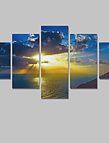Canvas Set Of 5 Abstract Print Painting On The Wall Home Decor Seaside Scenery Pictures