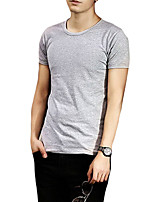 Hot! M-3XL Men's Short Sleeve T-Shirt,Cotton / Polyester Sport / Plus Sizes  / Pure Breathable comfortable t shirt