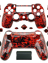 Replacement Controller Case for PS4 Controller (Red Ghost Head)