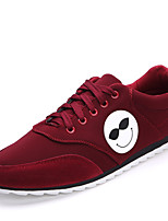 Men's Shoes Outdoor / Casual Fabric Fashion Sneakers Black / Blue / Red