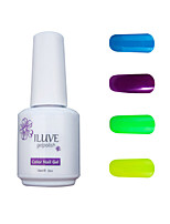ILuve Gel Nail Polish Set - Pack Of 4 - Long Lasting 3 Weeks Soak Off UV Led Gel Varnish – For Nail Art #4037