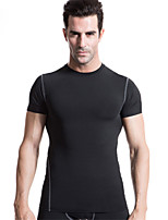 Sports Training PRO Compression Tights Short sleeves Men Quick Dry Training Running Basketball T-shirt Sports Wear