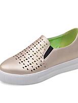 Chaussures Femme-Décontracté-Rouge / Argent / Or-Talon Bas-Bout Arrondi-Mocassins-Similicuir