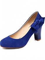 Women's Shoes Leatherette Chunky Heel Heels Heels Wedding / Office & Career / Party & Evening Black / Blue