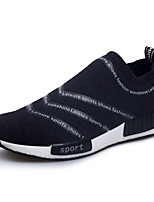 Men's Shoes Outdoor / Office & Career / Athletic / Casual Fabric Fashion Sneakers Black
