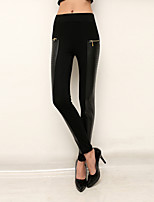 Women PU Legging,Polyester Thin