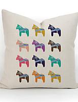 Algodón/Lino Cobertor de Cojín / Funda de almohada,Estampado animal / Inodoro Tradicional/Clásico / Detalle Decorativo