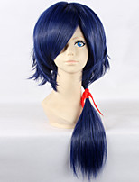 Dramatical Murder Koujaku 60cm Long Straight Dark Blue Color Men's Party Game Cosplay Wig