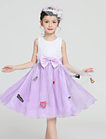 Girl's Pink / Purple Dress,Dresswear Polyester All Seasons