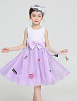 Girl's Pink / Purple Dress,Dresswear Polyester All Seasons
