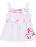 Girl's White Clothing Set,Ruffle Cotton Summer