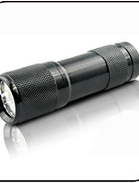 Mini 9 Led Flashlights/Torch LED 395nm Wavelength Counterfeit Detector/Ultraviolet Light/AAA Battery/Aluminum alloy