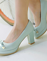 Women's Shoes Chunky Heel/Platform/Round Toe Heels Office & Career/Dress Blue/Pink/White