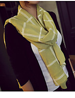 Spring And Summer Cotton Plaid Sided Embroidery  Yarn Oversized Scarves Shawl