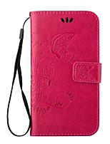 Для Samsung Galaxy S7 Edge Бумажник для карт / Кошелек / со стендом / Флип / Рельефный Кейс для Чехол Кейс для Бабочка Искусственная кожа