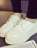 Women's Shoes Leatherette Platform Comfort Fashion Sneakers Outdoor / Casual Black / White
