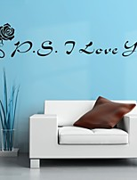 AYA™ DIY Wall Stickers Wall Decals, I Love You English Words & Quotes PVC Wall Stickers