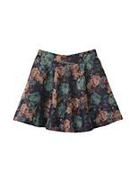 De las mujeres Faldas-Mini Chic de Calle Microelástico-Algodón