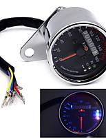 moto universelle double jauge kmh de vitesse odomètre conduit signal de rétro-éclairage