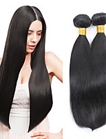 3PCS Malaysian Straight Hair Human Hair Weaves Natural Color 8-26 inch Virgin Hair